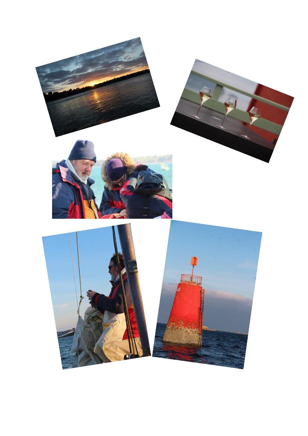 Première sortie en mer en baie de Morlaix sous le soleil du 4 janvier 2019